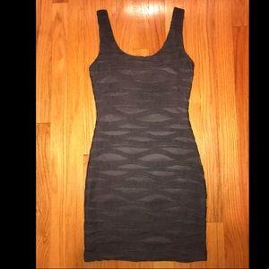Tight gray dress
